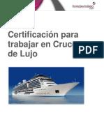 Certificacion Para Trabajar en Cruceros de Lujo