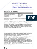 Motivation Letter for Master Application | Economics ...