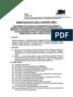 DIRECTIVA PARA ENCARGATURA DE DIRECCIÒN EN LAS II.EE. 2013