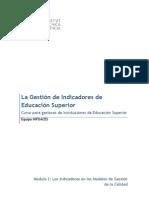 Los indicadores en los modelos de gestión de la calidad