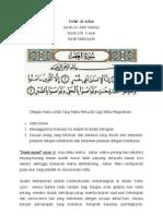 Surah Al-Asr Tafsir Al-Azhar Sisipan Daripada Tafsir Munir