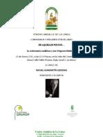 """""""De aquellos polvos... La autonomía andaluza y sus orígenes históricos"""" Conferencia presentación del último libro de Rafael Sanmartín"""