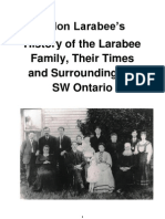 Eldon Larabee's History of the Larabee Family, Their Times and Surroundings in SW Ontario