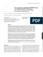 Accurate Normalization of Real-time Quantitative RT-PCR Data By