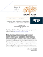 As relações entre a agenda pós-moderna - Arquivos Analíticos