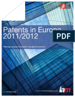 Patents in Europe 2011-2012