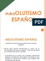 Absolutismo español. Presentación.