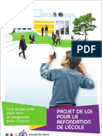 Dossier de prensa del proyecto de Ley de refundación de la Escuela francesa