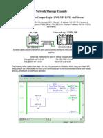 Mensajeo Entre - ML1100 (1763) Ethernet MSG to CompactLogix (1769) L32E35E