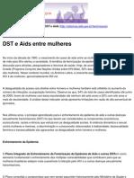 Mulheres Contra as DST e Aids - DST e Aids Entre Mulheres - 2010-10-21