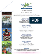 2013 Art-i-facts Magazine Deadlines/Publication Dates