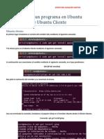 Instalación de un programa en Ubuntu Servidor desde Ubuntu Cliente