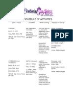 scheduleofactivities
