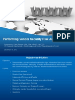 Performing Vendor Security Risk Assessments