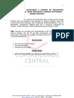 Procedimentos Para Escrituracao e Emissao de NF