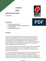 UCATT Consultation Response