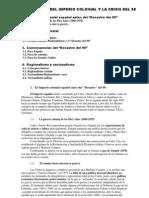LA CAÍDA DEL IMPERIO COLONIAL Y LA CRISIS DEL 98 curso