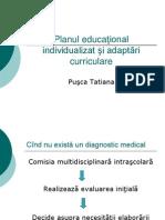Planul educational individual si adaptari curriculare