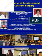 Update on Femto-second Laser Cataract Surgery Dr Vidushi Sharma & Dr Suresh K Pandey, SuVi Eye Institute, Kota, India