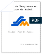 Manual de Programas en Centros de Salud