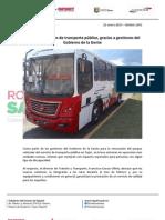 22-01-13 Boletin 1201Estrenan unidades de transporte público, gracias a gestiones del Gobierno de la Gente