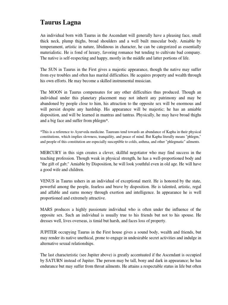 2 Vrishaba Lagna pdf | Planets In Astrology | Spirituality