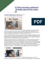 La falsa foto di Chávez morente conferma il vero golpismo di media come El País contro l'America latina