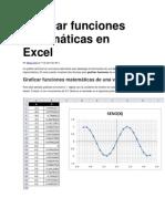 Graficar Funciones Matematicas en Excel