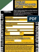 FormulaireReservationStand Artiste2013