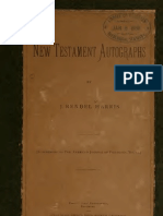 The New Testament Autographs (J. Rendel Harris)