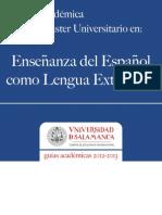 enseñanza del español como lengua extranjera guia académica