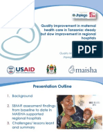 Quality improvement in maternal health care in Tanzania