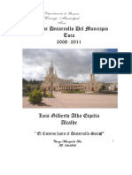 Plan de Desarrollo Toca 2008 2011