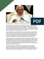 Catequesis El Credo BXVI
