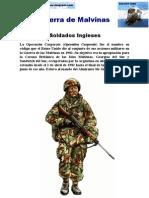 Guerra de Malvinas - Soldados Ingleses