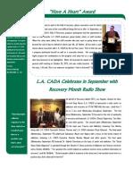 LA CADA Winter 2013 Newsletter