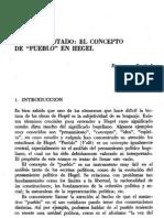 NACIÓN Y ESTADO - EL CONCEPTO DE PUEBLO EN HEGEL - ESPERANZA DURÁN