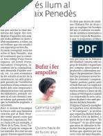 Més llum al Baix Penedès, article publicat el 25 de gener a El 3 de vuit