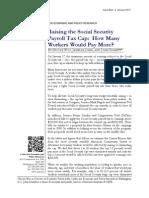 Raising the Social Security Payroll Tax Cap