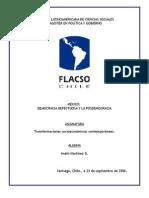 Mexico entre Democracia defectuosa y posdemocracia
