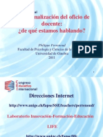 Dc4 l10cei2011 1. Competencias Docentes Para La Vida Institucional. Dr. Philippe Perrenoud