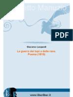 Guerra Dei Topi e Delle Rane Poema (1815)