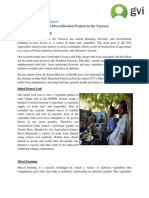 GVI Fiji Achievement Report - Nov 2012, Agriculture Diversification