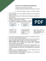 Ideas Centrales del texto Habilidades Lingüísticas.