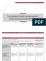 Licensed Staff Assessment and Evaluation Rubric