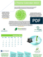 Energy Calendar 2013 from Greenfeathers Green Directory Associates
