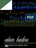 Badiou, Alain -Condiciones