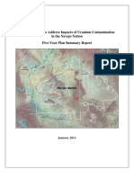 1/2013 Five-Year Plan Summary Report Federal Actions to Address Impacts of Uranium Contamination in the Navajo Nation