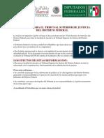 Facultades para el Tribunal Superior de Justicia del Distrito Federal