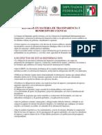 Reforma en Materia de Transparencia y Rendición de Cuentas